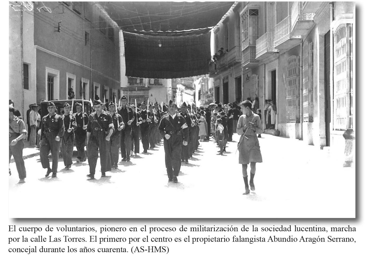 C/ las Torres. Cuerpo de voluntarios