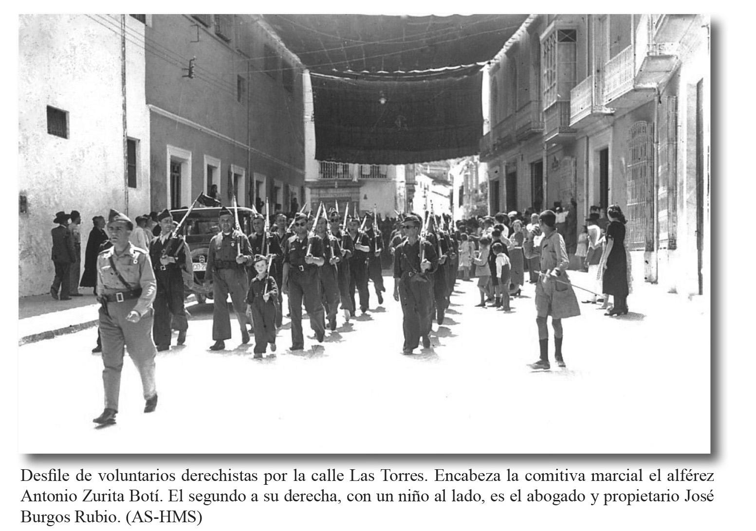 Escuadrón de Caballistas Aracelitanos. C/ las Torres