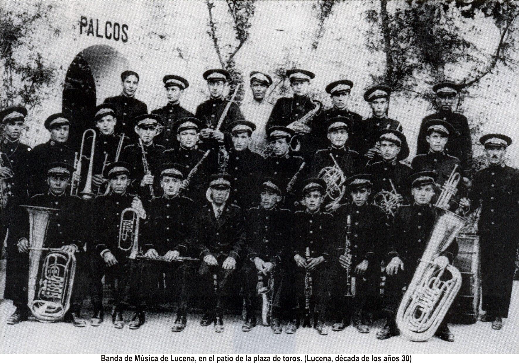 Banda de Música. Plaza de toros 1930