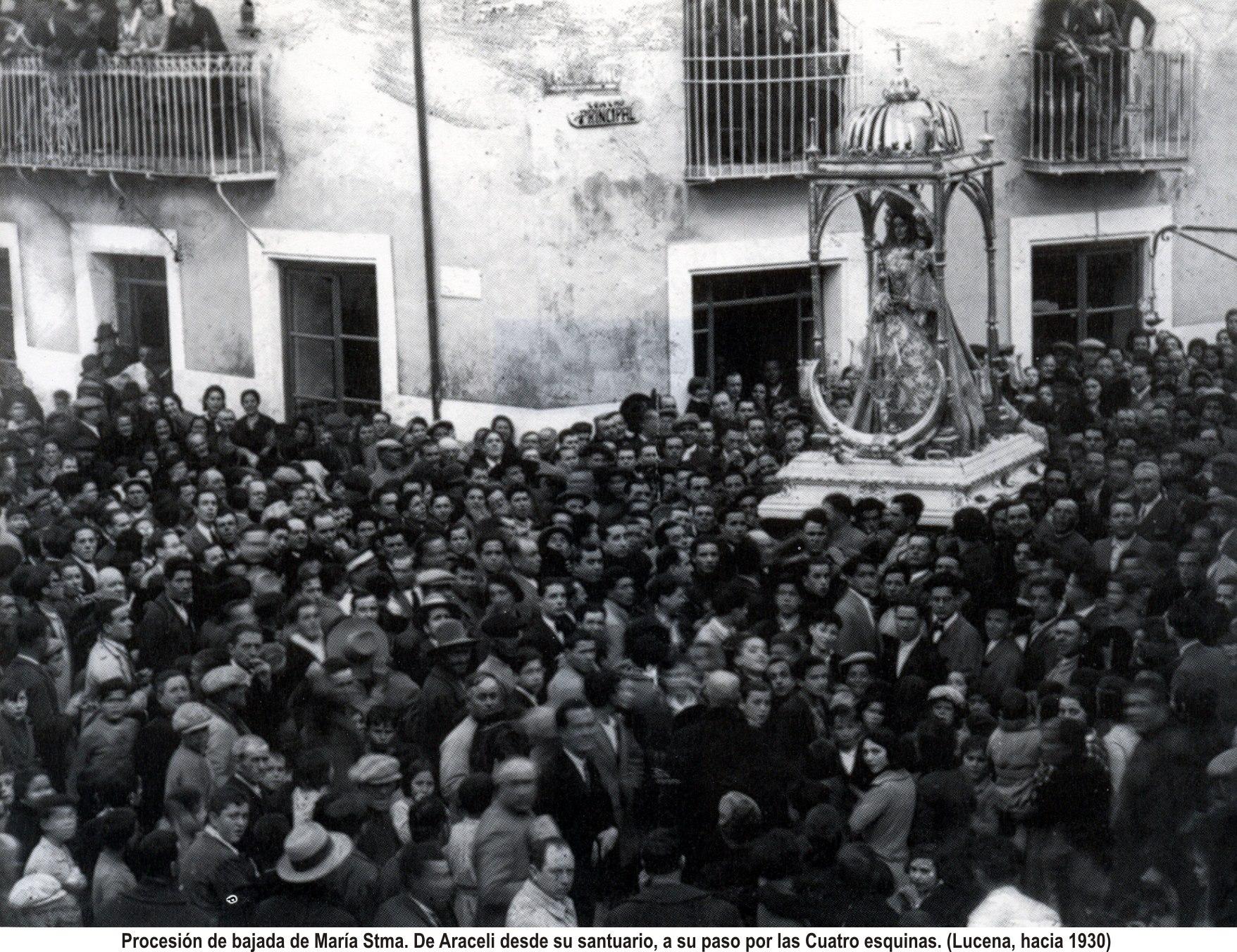 Virgen de Araceli. Cuatro esquinas. 1930