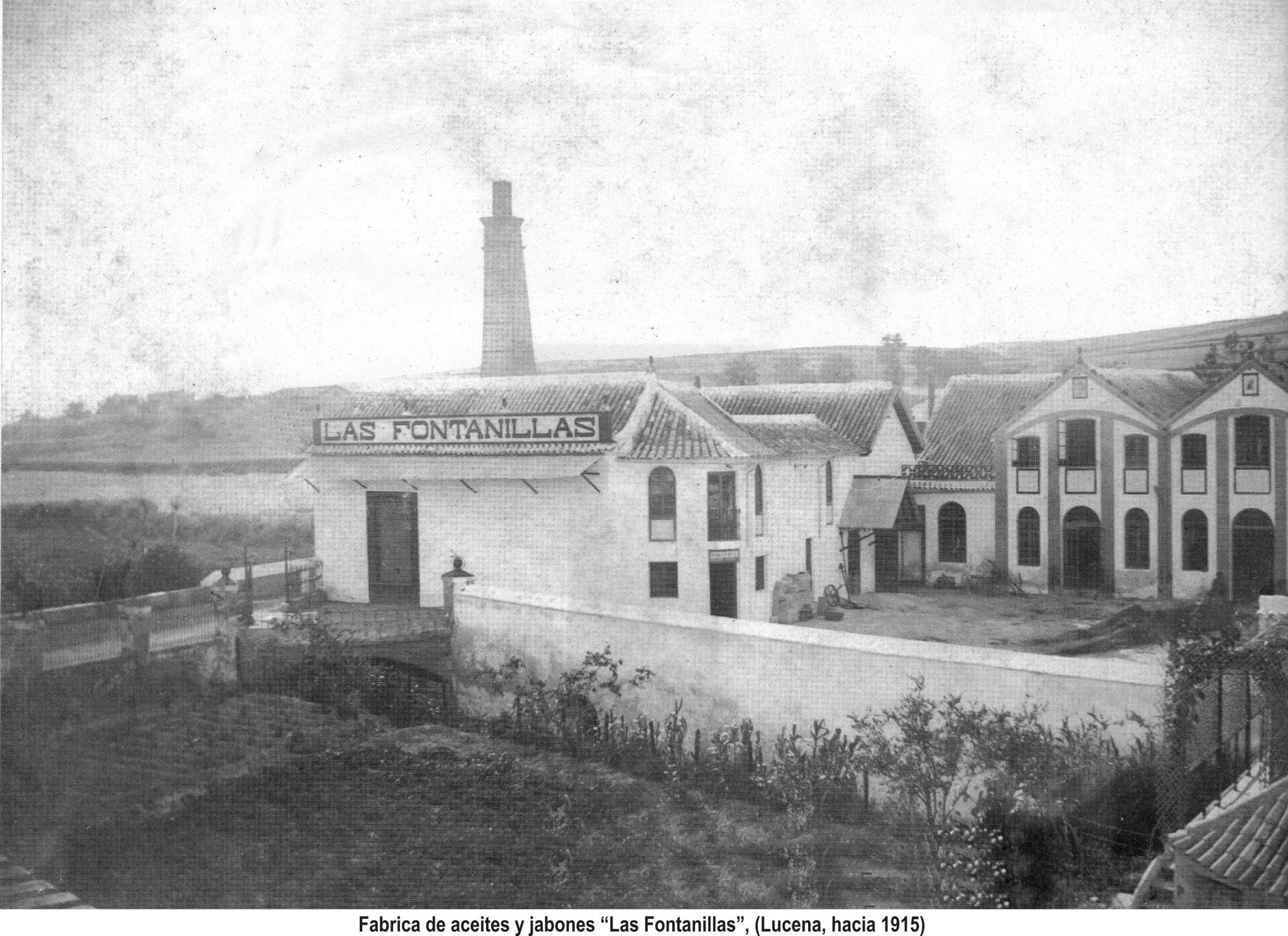 Fábrica de aceite y jabones Las Fontanillas 1915
