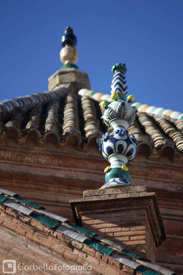 Remates de cerámica. San Agustín
